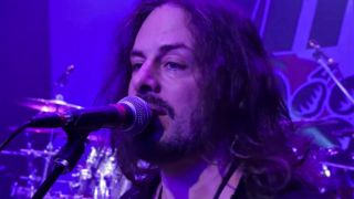 A still from The Winery Dogs' Captain Love video
