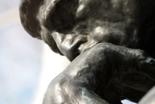 The Thinker, men, suffering, depression