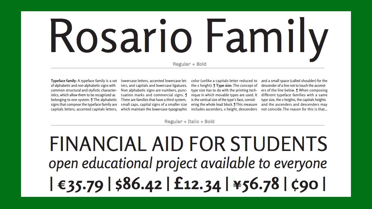 Free web fonts Rosario
