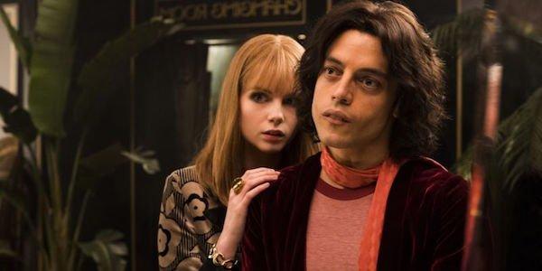 Rami Malek as Freddie Mercury and Lucy Boynton as Mary Austin in Bohemian Rhapsody