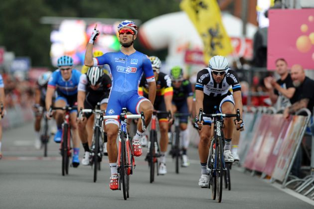 Nacer Bouhanni wins Stage 4 of the 2014 Eneco Tour