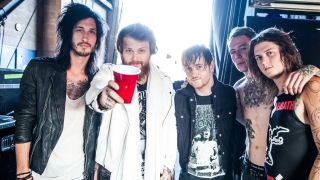 A picture of Asking Alexandria with Danny Worsnop