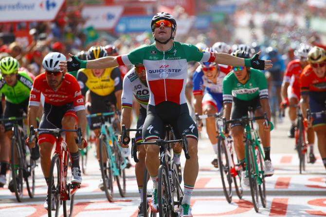Elia Viviani (Quick-Step Floors) wins stage 10 at the 2018 Vuelta a Espana