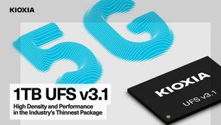 Kioxia 1TB flash memory