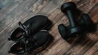 Trainers and Dumbbells