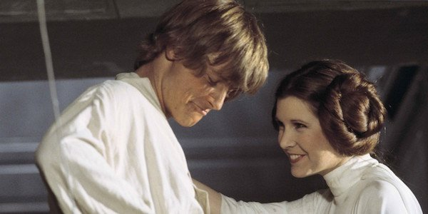 Luke and Leia in star wars movies