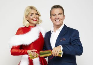 Bradley Walsh with Holly for Take Off with Bradley and Holly