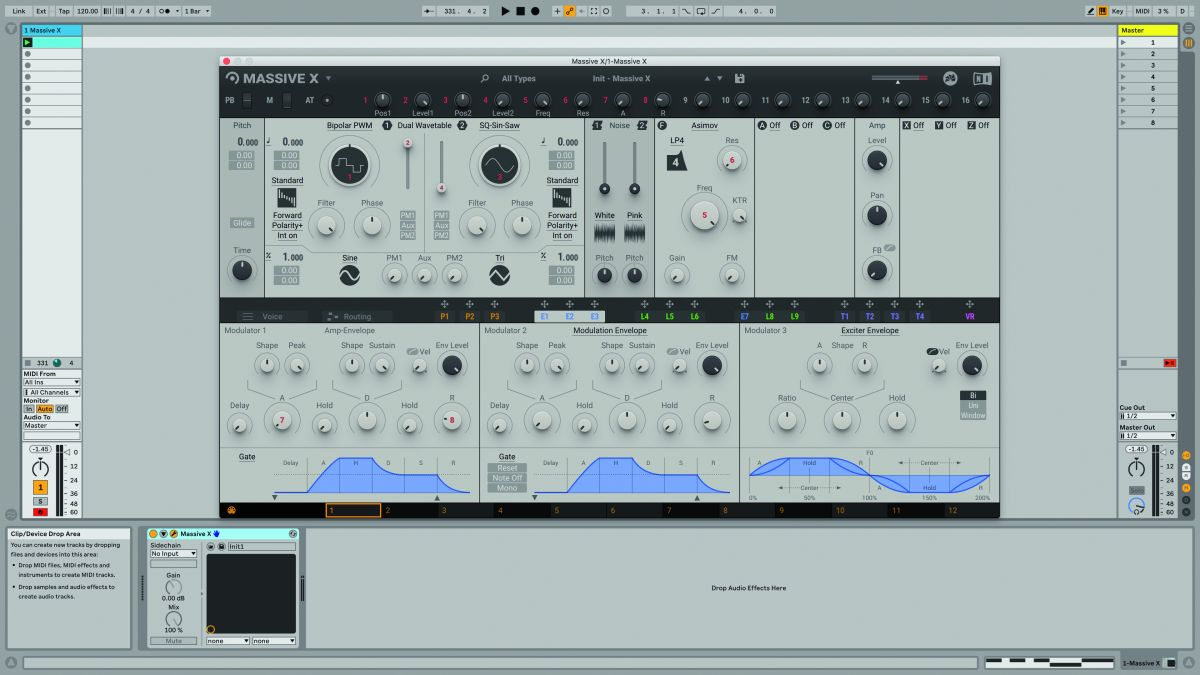 How to build a basic square wave bass sound in NI's Massive X synth