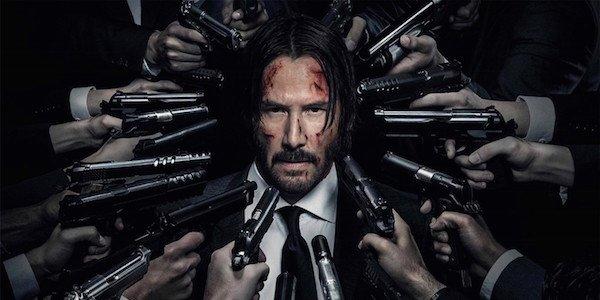 guns pointed at John Wick