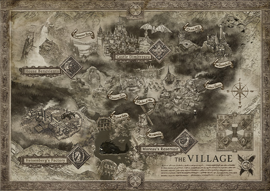 A map of Resident Evil Village's, well, village.