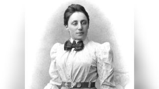 German mathematician Emmy Noether (shown here in this portrait) was born on March 23, 1882, in Erlangen, Germany, and died April 14, 1935, in Bryn Mawr, Pennsylvania.