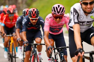 Egan Bernal (Ineos Grenadiers) in the pink jersey with one stage to go in the Giro d'Italia