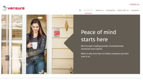 Verisure website screenshot
