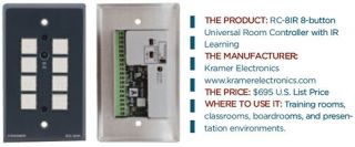 Product Review: Kramer RC-81R Universal Room Controller