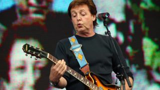 Photo of LIVE 8 and Paul McCARTNEY, performing live onstage at Live 8.