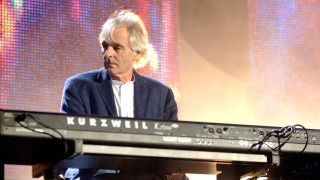 Richard Wright onstage at Live 8 in London, 2005