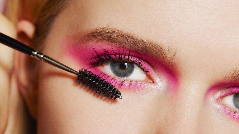 pink eyeshadow close up