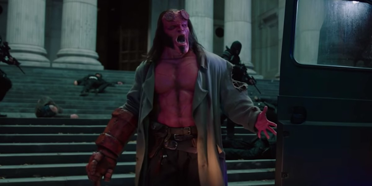 David Harbour makes for a scary Hellboy in the 2019 reboot