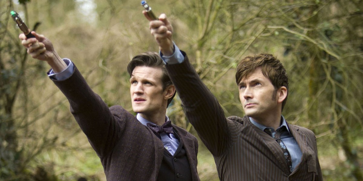 Matt Smith and David Tennant on Doctor Who