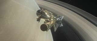 Cassini at Saturn art