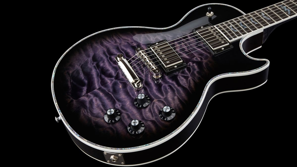 gibson unveils a halloween special with the bats in flight les paul custom musicradar. Black Bedroom Furniture Sets. Home Design Ideas