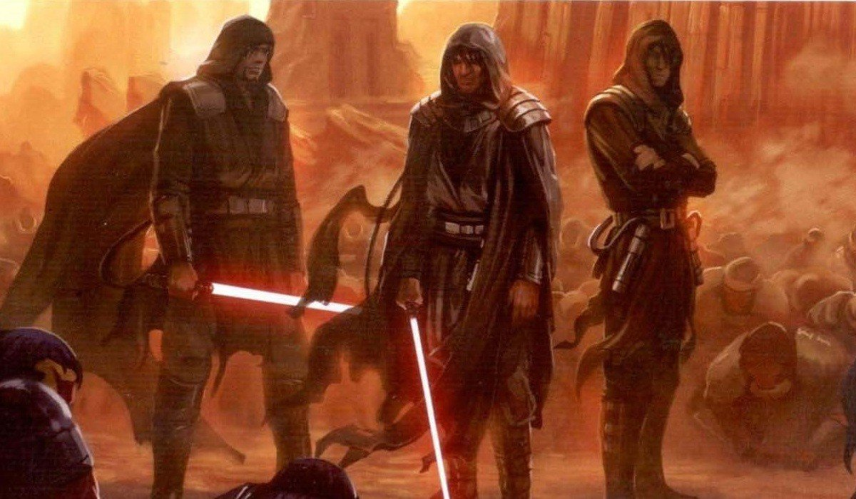 Dark Jedi arriving in front of the Sith
