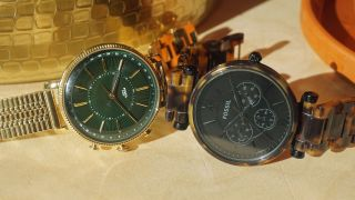 Fossil's Cameron hybrid is on the left and Jacqueline is on the right. (Image credit: Techradar)