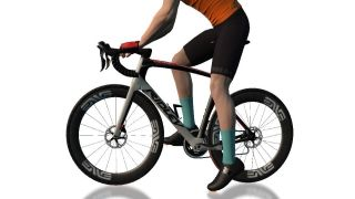 Zwift has added this very aero Ridley frame