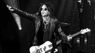 Bassist Nikki Sixx of Sixx:A.M. performs at The Joint inside the Hard Rock Hotel & Casino on April 10, 2015