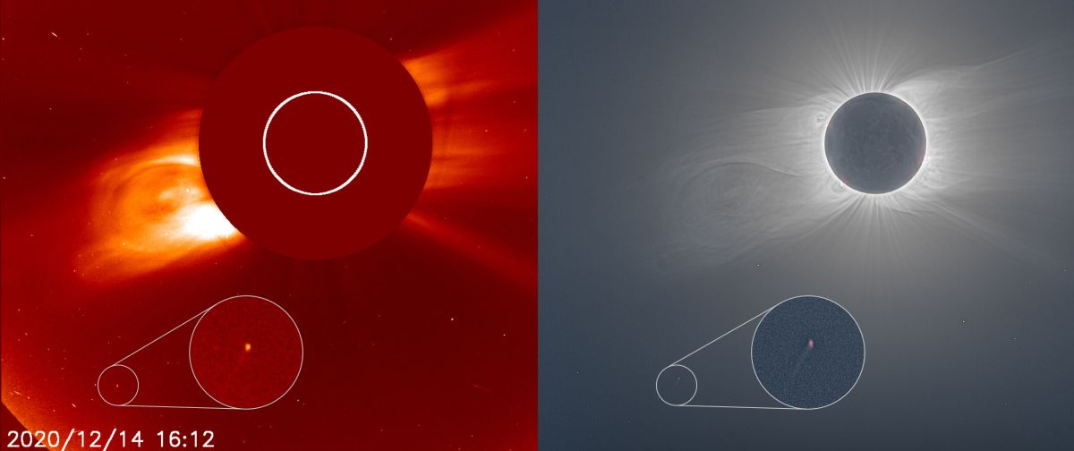 This tiny comet photobombed the total solar eclipse of 2020