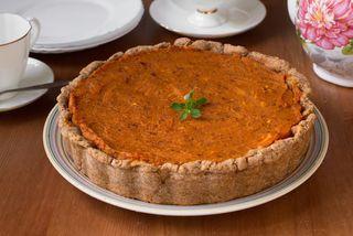 A vegan pumpkin pie