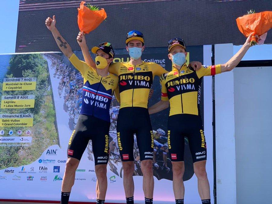Jumbo-Visma won the team competition at the Tour de l'Ain