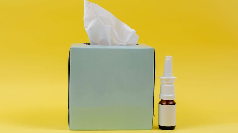 Tissues and nasal spray