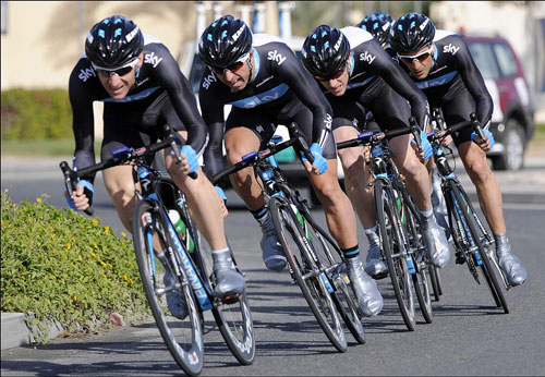 Team Sky, Tour of Qatar 2010, stage 1 TTT