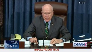 Sen. Patrick Leahy presides over the second impeachment trial of former President Donald Trump.