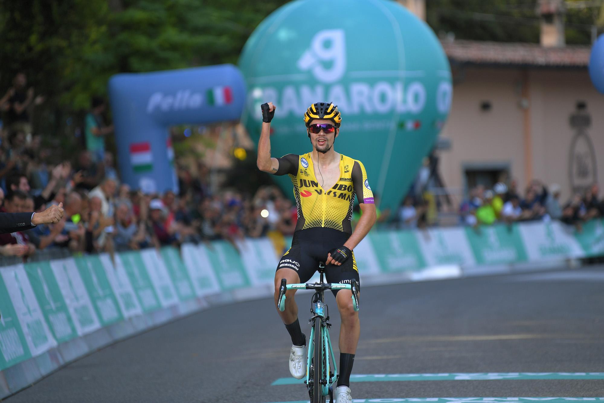 Primož Roglič solos to victory after late attack at Giro dell'Emilia 2019