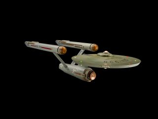 "The original USS Enterprise starship model used in ""Star Trek"" is seen restored in the Smithsonian Channel's ""Building Star Trek"" documentary airing Sept. 4, 2016 to mark the TV series' 50th anniversary."