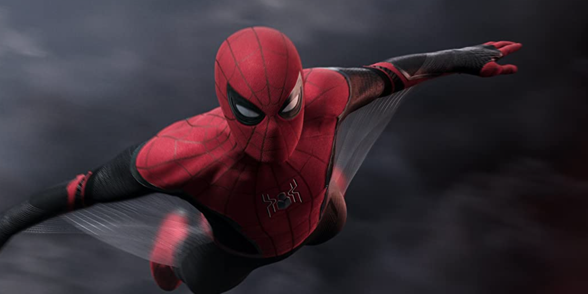Spider-Man flying in Far From Home