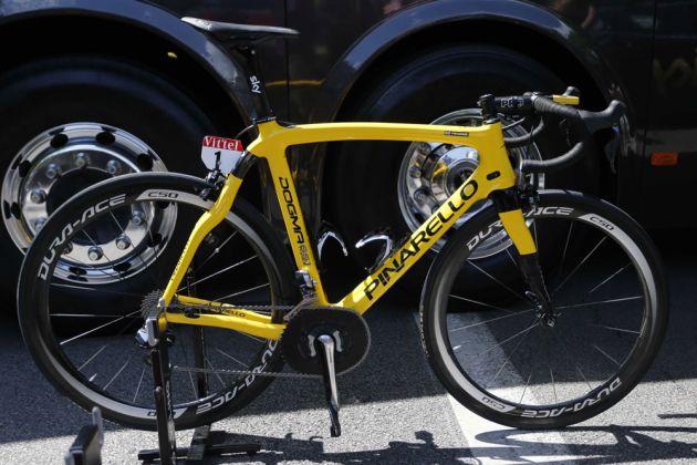 Froome s Yellow Pinarello Dogma 65.1 Think 2. Image  Sunada. TAGS  Pro Team  ... da513dffd