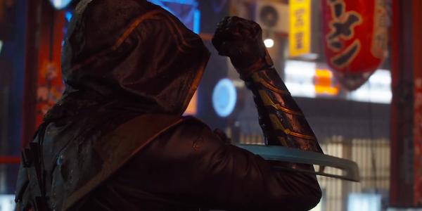 Ronin Hawkeye wipes sword avengers endgame