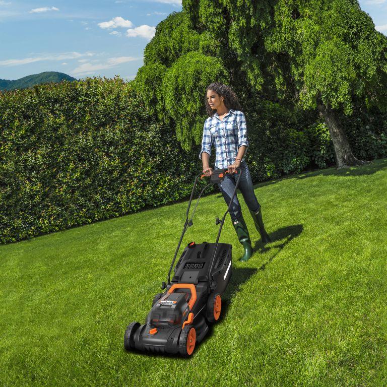 Worx 40V cordless lawn mower wg779e
