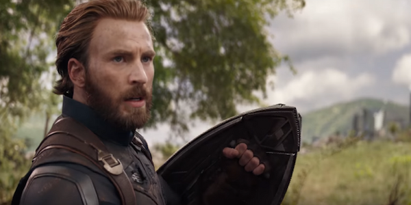 Captain America's new shield in Avengers: Infinity War.