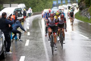 TIGNES FRANCE JULY 04 Davide Formolo of Italy and UAETeam Emirates Rui Costa of Portugal and UAETeam Emirates during the 108th Tour de France 2021 Stage 9 a 1449km stage from Cluses to Tignes Monte de Tignes 2107m LeTour TDF2021 on July 04 2021 in Tignes France Photo by Chris GraythenGetty Images