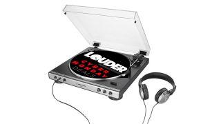 audio technica turntable shot