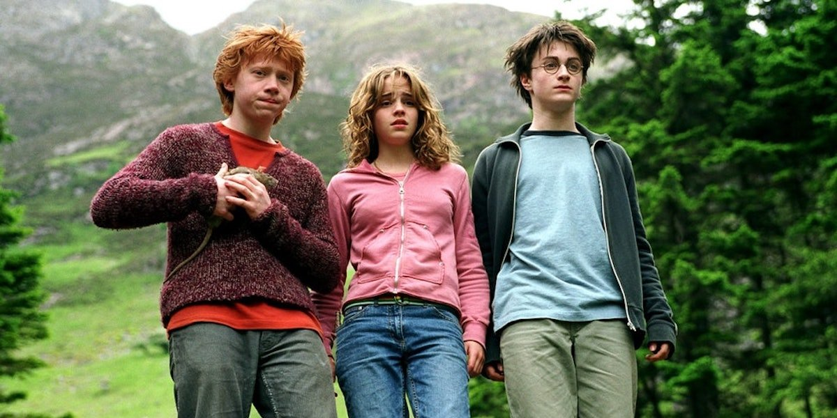 Rupert Grint, Emma Watson and Daniel Radcliffe in Harry Potter and the Prisoner of Azkaban