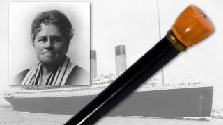 Ella White used this cane to light the way for her lifeboat on the night of the Titanic's demise.
