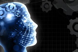 futuristic human graphic