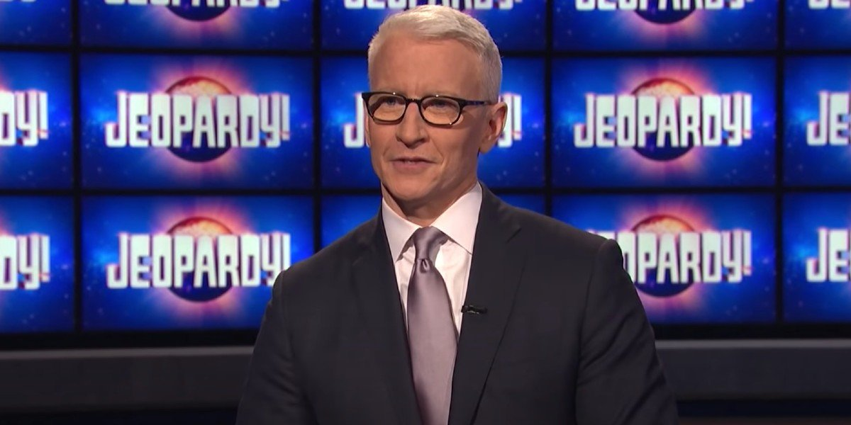 Anderson Cooper on Jeopardy! set