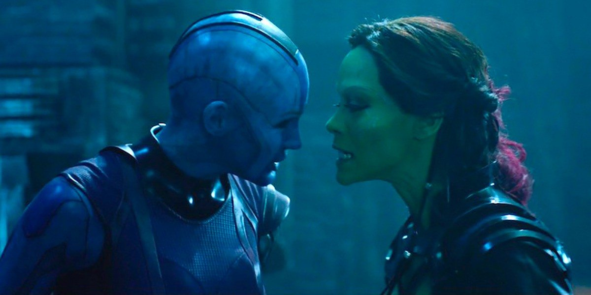 Gamora and Nebula from Guardian's of the Galaxy.