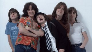 Bon Scott with AC/DC in 1979